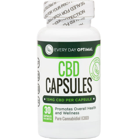 Image of Pure CBD Oil Capsules, 15mg CBD Oil Per Pill-Health Smart Hemp