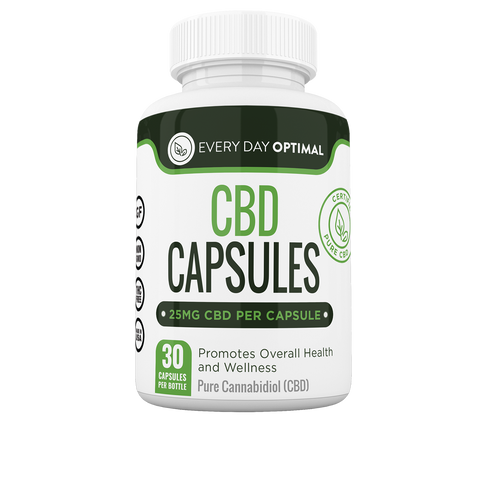 Image of Pure CBD Oil Capsules, 25mg CBD Oil Per Pill-Health Smart Hemp