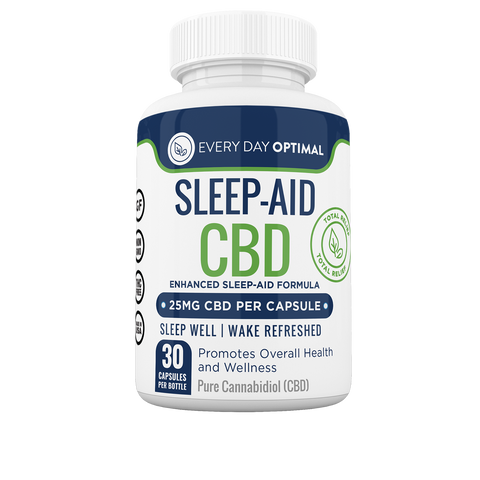Sleep Aid CBD Capsules, 25mg CBD per Pill-Health Smart Hemp