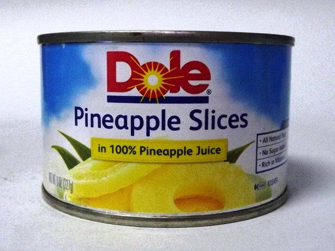 DOLE PINEAPPLE SLICES HEAVY SYRUP 234G