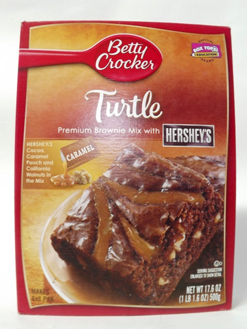 BETTY CROCKER TURTLE BROWNIE MIX 500G