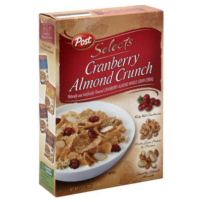 POST SELECT CRANBERRY ALMOND CRUNCH CEREAL 368 G