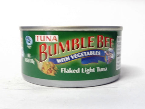 BUMBLE BEE FLAKED LIGHT TUNA IN VEGETABLE OIL 170G