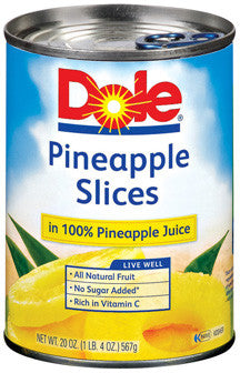 DOLE PINEAPPLE SLICES HEAVY SYRUP 567G