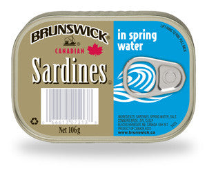 BRUNSWICK SARDINES IN SPRING WATER 106G