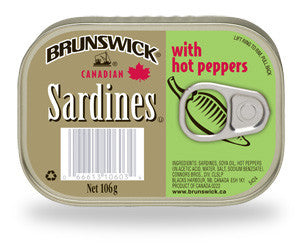 BRUNSWICK SARDINES WITH HOT PEPPERS 125G