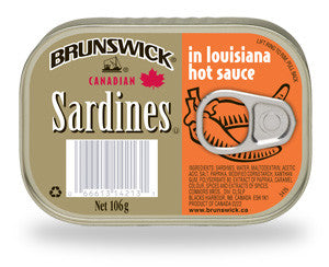 BRUNSWICK SARDINES IN LOUISIANA HOT SAUCE 106G