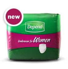 DEPEND UNDERWEAR FOR WOMEN 15`S