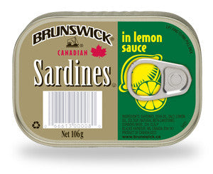 BRUNSWICK SARDINES IN LEMON SAUCE 106G