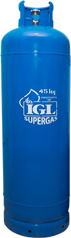 Gas Refill: IGL SUPERGAS 45 KG (100 LBS) (For Customers Who Currently Have Any Brand 100lb LPG Gas Installed)