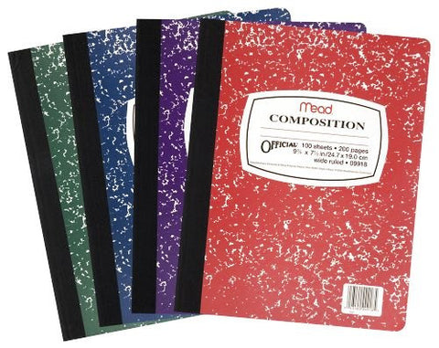 MEAD COMPOSITION BOOK 100SHT