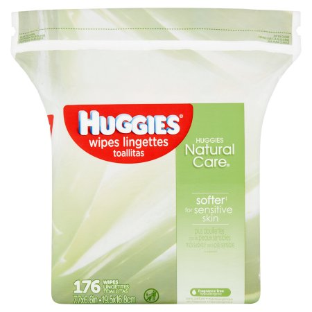 HUGGIES NATURAL CARE WIPES 176