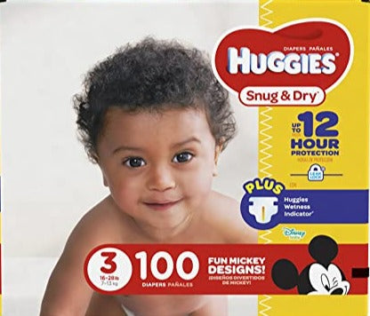 HUGGIES BABY DIAPERS SNUG & DRY STAGE 3 50's