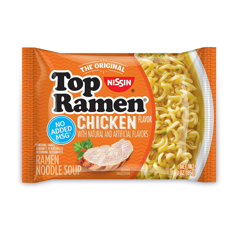 NISSIN TOP RAMEN NOODLE SOUP CHICKEN FLAVOR 85 G
