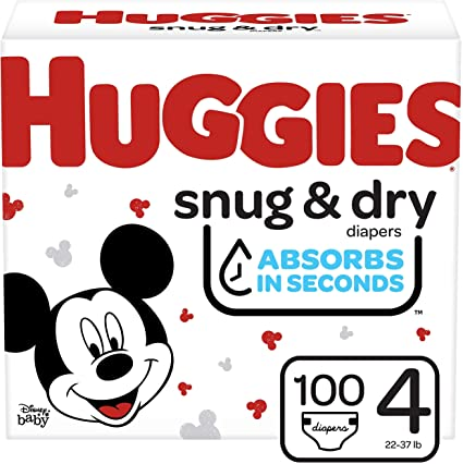 HUGGIES BABY DIAPERS SNUG & DRY STAGE 4 50's
