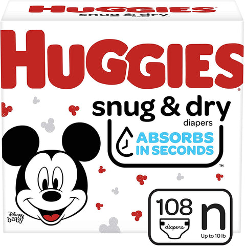HUGGIES BABY DIAPERS SNUG & DRY STAGE 1 54's
