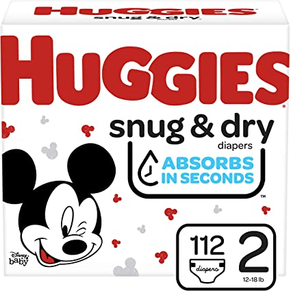 HUGGIES BABY DIAPERS SNUG & DRY STAGE 2 56`s