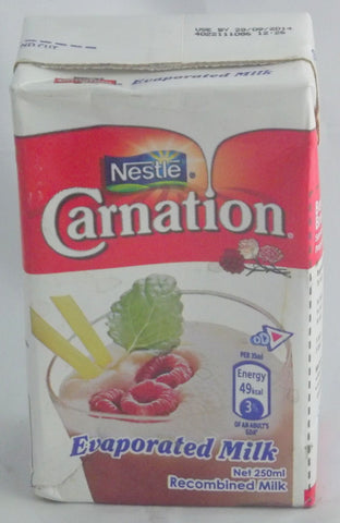 NESTLE CARNATION EVAPORATED MILK 250ML
