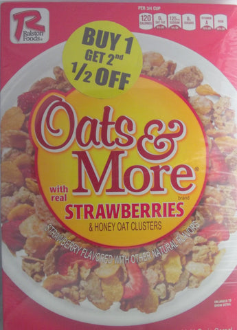 RALSTON CEREAL OATS W/STRAWBERRIES 369G