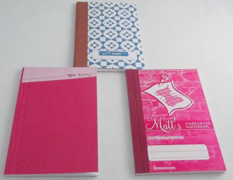 HARDCOVER NOTEBOOK - 3 PACK