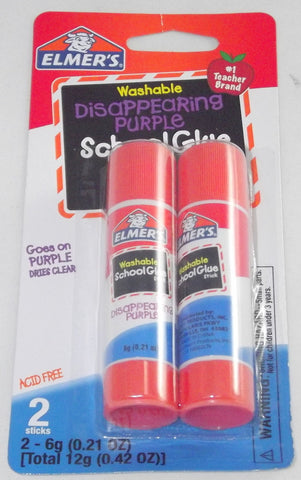 ELMERS DISAPPEARING PURPLE GLUE STICK 12 G