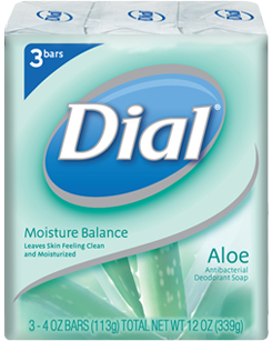DIAL BATH SOAP ALOE 113G