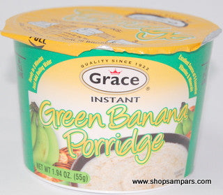 GRACE INSTANT PORRIDGE SOY GREEN BANANA 55G