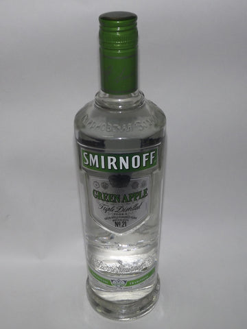 SMIRNOFF PREMIUM VODKA GREEN APPLE 750 ML