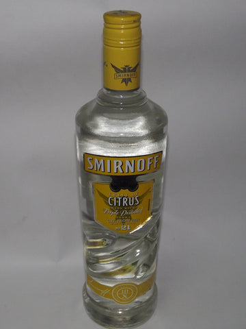 SMIRNOFF PREMIUM VODKA CITRUS 750 ML