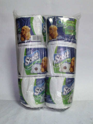 SCOTT PLUS JUMBO TISSUE 2PLY 6PK