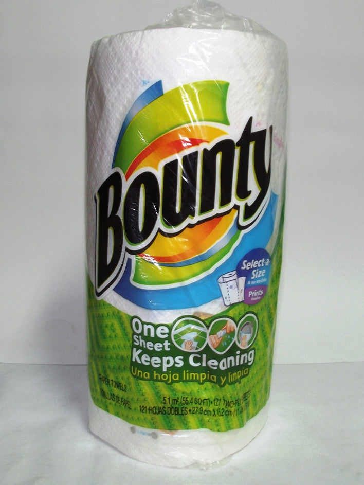 BOUNTY HAND TOWEL SELECT-A-SIZE PRINTS