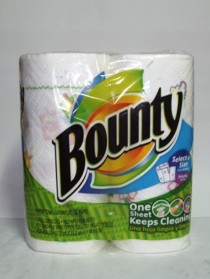 BOUNTY HAND TOWEL SELECT-A-SIZE PRINTS 2`S