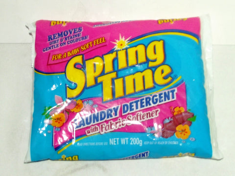 SPRING TIME LAUNDRY DETERGENT WITH FABRIC SOFTNER 200 G