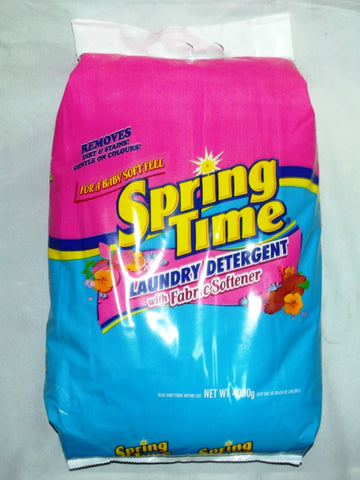 SPRING TIME LAUNDRY DETERGENT WITH FABRIC SOFTNER 4000 G