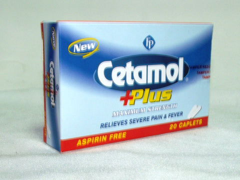 CETAMOL PLUS MAXIMUM STRENGTH CAPLETS 20`S