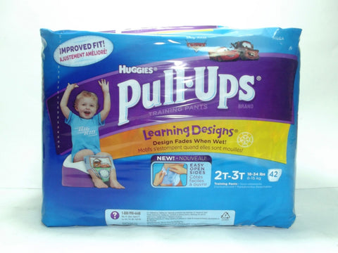 HUGGIES PULL-UPS TRAINING PANTS 2T-3T BOY 42