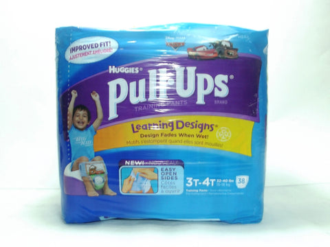 HUGGIES PULL-UPS TRAINING PANTS 3T-4T BOY 38