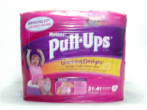 HUGGIES PULL-UPS TRAINING PANTS 3T-4T GIRL 38
