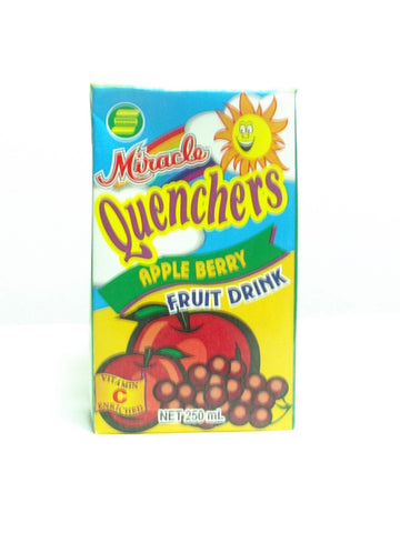 MIRACLE QUENCHERS APPLE BERRY 250ML