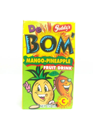 GEDDYS DE BOMB MANGO-PINEAPPLE DRINK 250ML
