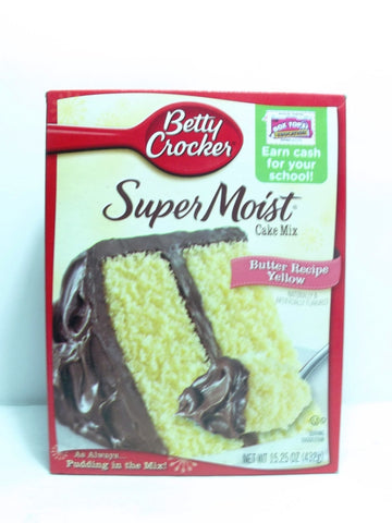 BETTY CROCKER SUPER MOIST BUTTER RECIPE YELLOW 432G