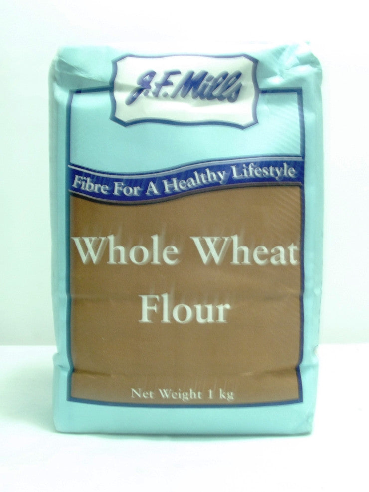 JF MILLS WHOLE WHEAT FLOUR 1KG