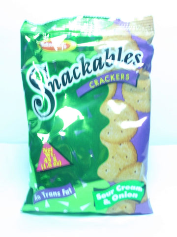 BUTTERKIST SNACKABLES SOUR CREAM CRACKERS 45G