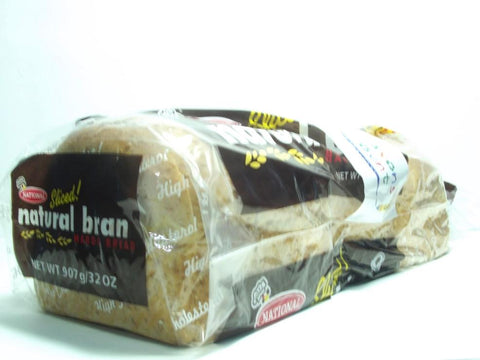 NATIONAL NATURAL BRAN HARDO SLICED BREAD 907G