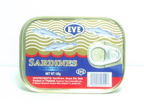 EVE SARDINES IN SOYA OIL 106G