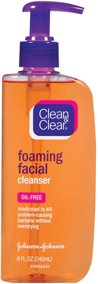 CLEAN & CLEAR  FOAM FACIAL CLEANSER 240ML