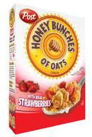 POST HONEY BUNCHES OATS WITH STRAWBERRIES CEREAL 368 G