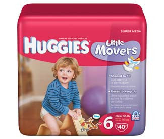 HUGGIES BABY DIAPERS STAGE 6 46-PACK)