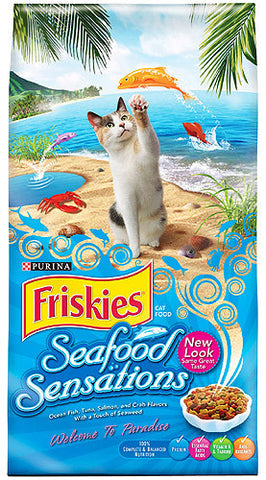 FRISKIES CAT FOOD (DRY) SEAFOOD SENSATION 459G