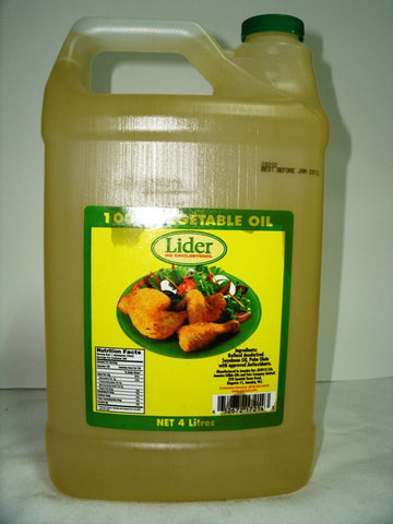 LIDER VEGETABLE OIL 4 L